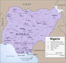 Map Of Nigeria Africa by Detailed Administrative Map Of Nigeria With Cities Vidiani Com