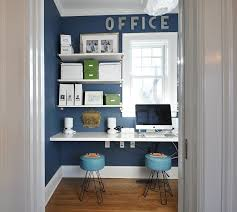 Home Office Bookshelf Ideas 10 Eclectic Home Office Ideas In Cheerful Blue 15 Navy Office