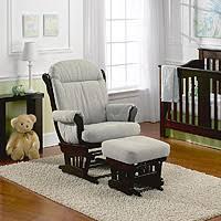 Espresso Rocking Chair Nursery Best Chairs Charleston Glider Espresso Wood Dove Fabric Babies