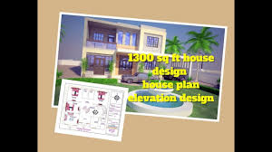 38 34 house design 1300 sq ft house plan elevation design