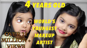 how much is a makeup artist the world s youngest makeup artist does makeup 4 year