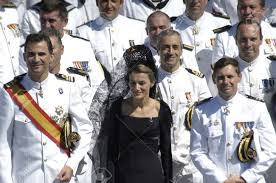 The Flag In Spanish The Princes Of Spain Felipe De Borbon Y Do A Leticia In