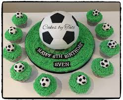 soccer cakes soccer cake with matching cupcakes children s birthday cakes