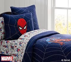 Spiderman Double Duvet Spider Man Quilt Pottery Barn Kids