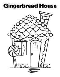 beautiful christmas gingerbread house coloring download