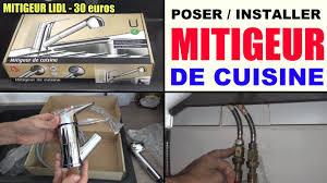 montage d un robinet de cuisine installer un robinet de cuisine mitigeur poser lidl miomare