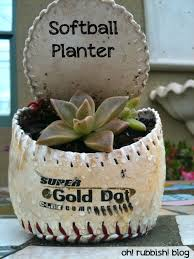 softball planter recycled garden projects upcycled kids toy