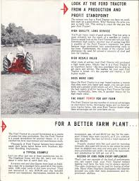 ford tractor with exclusive proof meter ad brochure