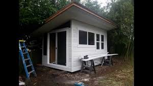 cheap hunting cabin ideas how to build a tiny house in a week for 2000 youtube