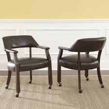 kitchen u0026 dining chairs with casters wayfair