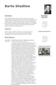 Resume Landscape Architect Marketing Director Resume Samples Visualcv Resume Samples Database