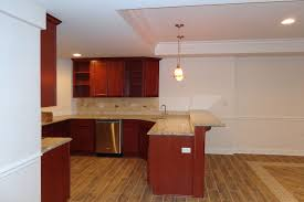 basement finishing full kitchen with island for seating guest