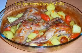 cuisiner un lapin au four lapin au four à la provençale les gourmandises de julie