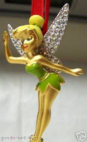 disney tinker bell swarovski ornament le 2004 new