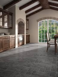Laminate Flooring Stone Tile Effect Faus Night Black Slate 8mm Tile Effect Laminate Floor 40346003