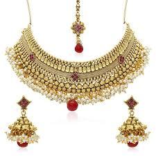 necklace sets images Buy jewels galaxy copper jewellery set for women golden jg nc jpg