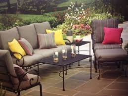 wrought iron patio ottoman patio garden yellow wrought iron patio furniture 9 piece wrought