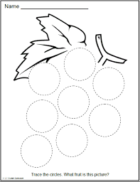 10 best images of circle activity sheet preschool circle shape