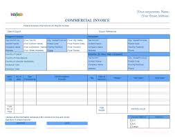 Template Of Proforma Invoice Dhl Commercial Invoice Template Template Design