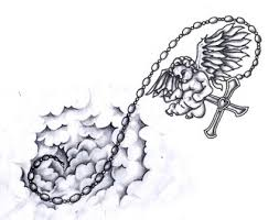 drawn tattoo cloud pencil and in color drawn tattoo cloud