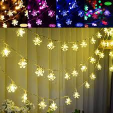 mayitr 20 led snowflakes string light ornament outdoor lights