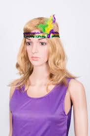 mardi gras headbands mardi gras feather sequin headband the mardi gras collections