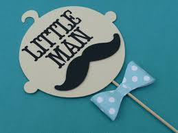 little man baby shower centerpiece mustache birthday bash