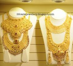 wedding jewellery sets gold kalyan jewellers gold plain and antique bridal necklace sets