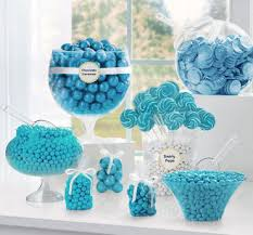Tiffany Blue Candy Buffet by Candy Buffet Supplies Candy Table U0026 Station Party City