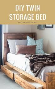 Woodworking Plans For Twin Storage Bed by Diy Twin Bed Built In 2 Days Some Needs To Build This For My