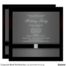 corporate black tie party invitation template christmas party