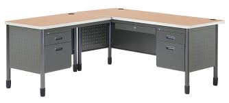 Shaped Desks Ofm Mesa Series L Shaped Steel Office Desk With