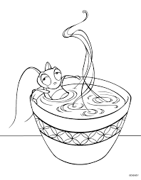 meeko u0027s mulan coloring pages
