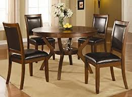 Amazoncom Swanville  Piece Dining Table Set In Brown Walnut - Amazon kitchen tables