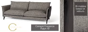 m canapé fragance le canapé ralph m en velours et tweed sur mesure