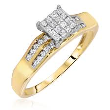 exclusive wedding rings cambridge 14k yellow gold 1 2ct tdw