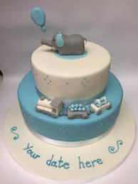 christening cakes christening cake 2 tier with blue elephant cinnamon square