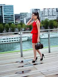 stella c zara peplum red dress zara heels asos vintage bag