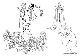 snow white dwarfs coloring pages getcoloringpages com