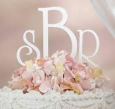 cake topper monogram white monogram wedding cake topper wedding collectibles