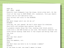 sample of descriptive essay about a place how to write movie scripts with examples wikihow