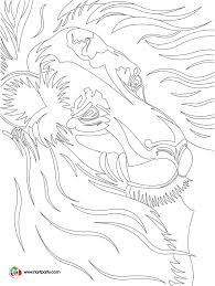 luminary lion sketch tracable and coloring page for the youtube