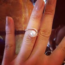 the pearls wedding band the prettiest pearl engagement ring the swirl and gold