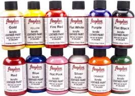 angelus brand acrylic leather u0026 vinyl paint color chart 720