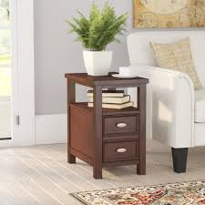 Chair Side Table With Storage Charlton Home Altitude End Table With Storage U0026 Reviews Wayfair