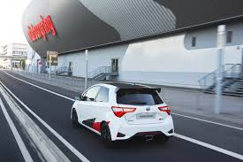 mitsubishi sticker design toyota yaris grmn boasts 209 hp 6 3 sec 0 62 time and a u20ac30k