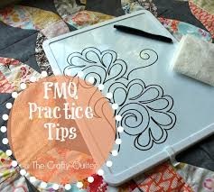 free motion quilting practice tips the crafty quilter