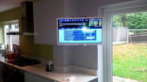 tv in kitchen ideas small flat screen tv wall mount saomc co