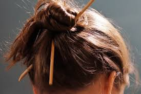 chopsticks for hair free images girl mane ear hairstyle