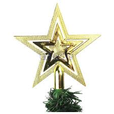 wholesale cute xmas christmas star tree topper for home party